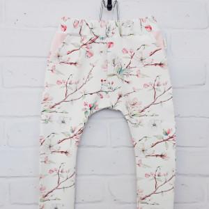 Spodnie kwiaty jabłoni  86 - 116