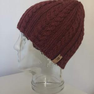 Sportowa czapka - wełna i alpaka, bordowa