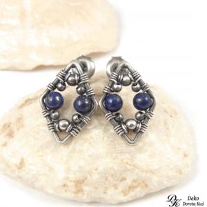 Srebrne romby - Lapis lazuli
