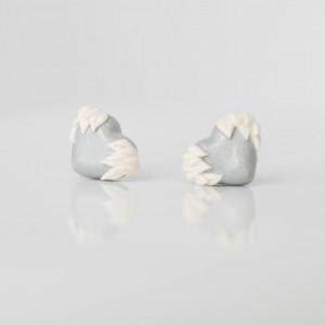 Srebrne serca ze skrzydłami - kolczyki wkręty