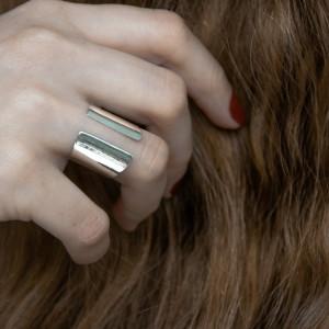 Srebrny otwarty pierścionek