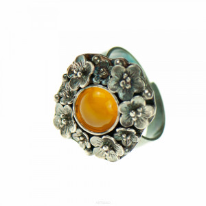 Srebrny pierścień z agatem Marise a729