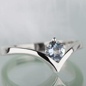 Srebrny pierścionek z akwamarynem !ZAREZERWOWANY!