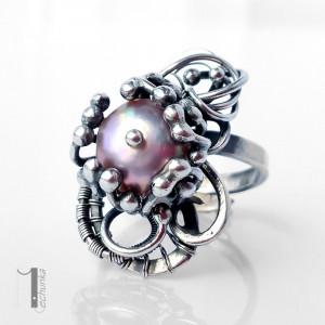 Stamnibus II srebrny pierścień z perłą
