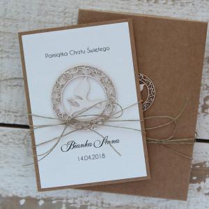 Stylowa kartka na chrzest z pudełkiem 1