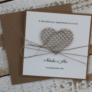 Stylowa kartka na ślub z personalizacją 3
