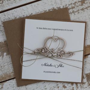 Stylowa kartka na ślub z personalizacją 4