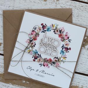 Stylowa kartka na ślub z personalizacją 5