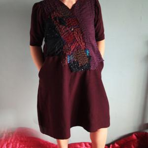 Sukienka Bordowy buziak #platie_2209