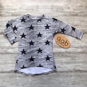 Sukienka przetarty jeans gwiazdki rozmiar 98/104