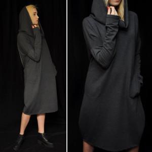 Sukienka z kominem why not oversize dress