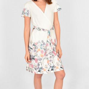 Sukienka zakładana Ellani ecri w polne kwiaty