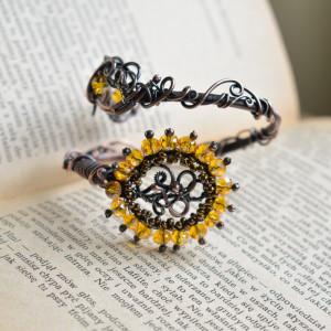 Sunflower - bransoletka ze szklanymi kryształkami