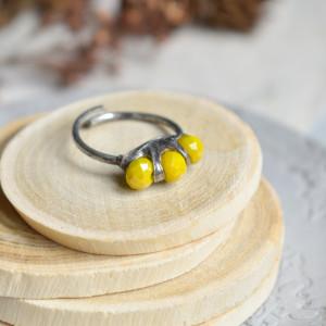 Sunny - pierścionek ze szklanymi kryształkami
