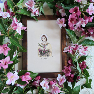 św. Dorota,  prezent na komunię