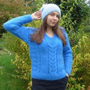 Sweter moherowy blue