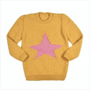 Sweter-Tunika Gwiazda Merynos Dziecięcy