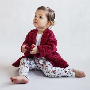 Sweter z paskiem czerwony melanż