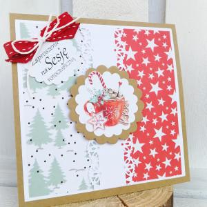 świąteczna kartka/zaproszenie na sesję KUBEK