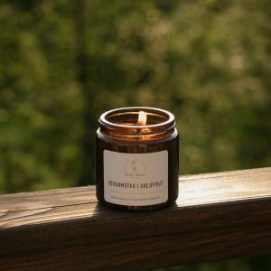 Świeca sojowa Bergamotka i grejpfrut - 120 ml
