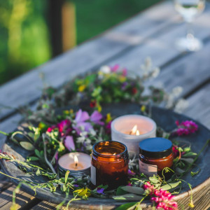 Świeca sojowa - Wiosenny kwiat