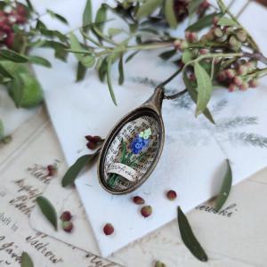 Szafirki naszyjnik, miniaturowe kwiaty
