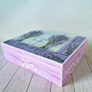 szkatułka lawenda