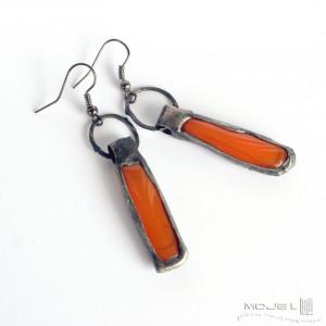 Szklaki pomarańczaki II - kolczyki