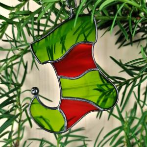 Szklana zawieszka elfi bucik (witraż) #1