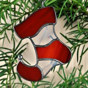 Szklana zawieszka elfi bucik (witraż) #4