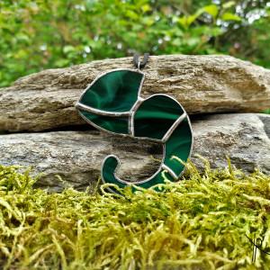 Szklana zawieszka kameleon (ciemno zielona)