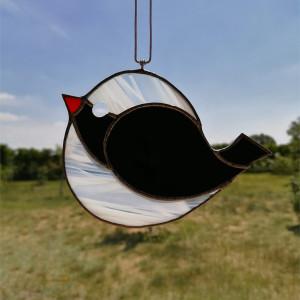 Szklana zawieszka ptak (witraż) #1