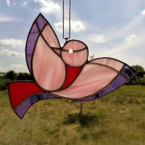 Szklana zawieszka ptak (witraż) #14