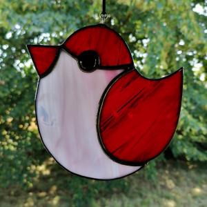 Szklana zawieszka ptak (witraż) #4