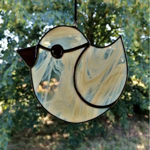 Szklana zawieszka ptak (witraż) #5