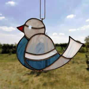 Szklana zawieszka ptak (witraż) #8