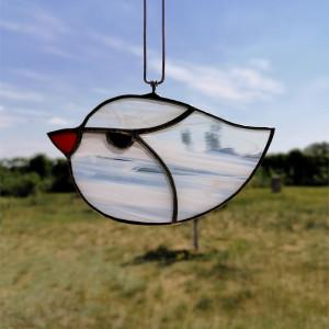 Szklana zawieszka ptaszek (witraż) #1