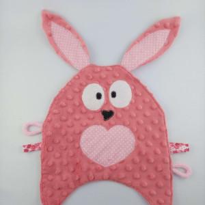 Szmatka sensoryczna królik różowy