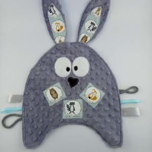 Szmatka sensoryczna królik szary