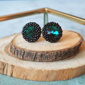 Sztyfty Emerald & Black