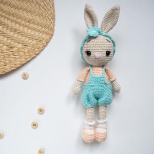 szydełkowy zając zajączek królik Marcysia 28 cm