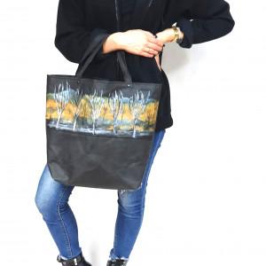Szyta i malowana ręcznie, vegańska torba