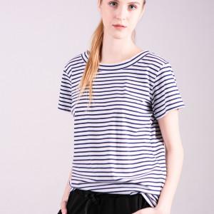 T-shirt damski klasyczny -PASKI