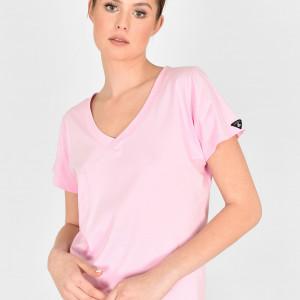T-shirt V-Neck różowa Landrynka
