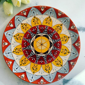 """Talerz ceramiczny """"Słoneczny"""""""