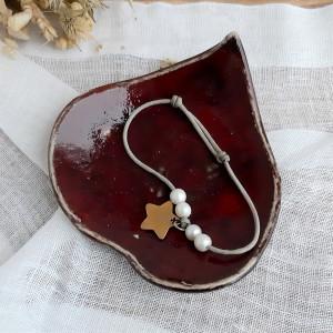 Talerzyk na biżuterię red