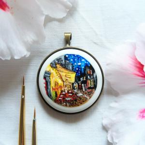 Taras kawiarni nocą , Vincent van Gogh, porcelana