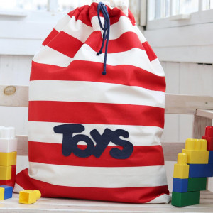 Torba na zabawki, organizer bawełniany