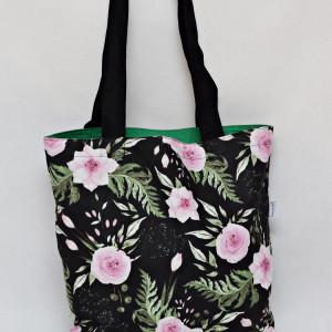 Torba na zakupy eko shopperka kwiaty in garden