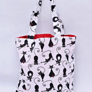 Torba na zakupy shoperka eko torba bawełniana koty